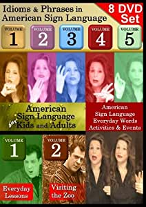 American Sign Language 8-DVD Collection: Idioms, Kids and Activities! (7+ hours of video)