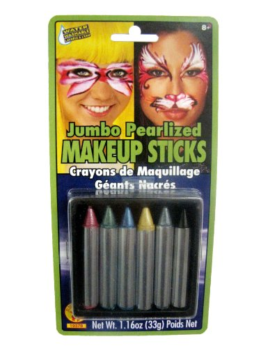 Rubies Jumbo Pearlized Makeup Sticks