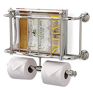 Amazon.com - Bathroom Belmont Wall-mount Magazine Rack ...