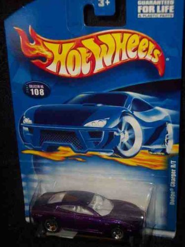#2001-108 Dodge Charger R/T 5-spoke Wheels Collectible Collector Car Mattel Hot Wheels 1:64 Scale