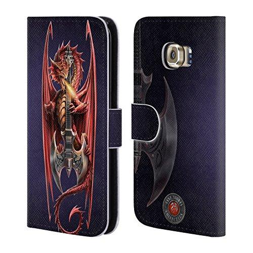 Ufficiale Anne Stokes Power Chord Dragoni Cover a portafoglio in pelle per Samsung Galaxy S6 edge