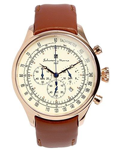 [サルバトーレマーラ] 腕時計 ウォッチ レトロ クラック 限定モデル イタリアブランド アナログ表示 3気圧防水 メンズ 【雑誌掲載モデル】