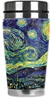 Mugzie® brand 16-Ounce Travel Mug with Insulated Wetsuit Cover - Van Gogh: Starry Night