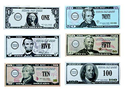 School-Smart-US-Bills-Play-Money-Set-of-320