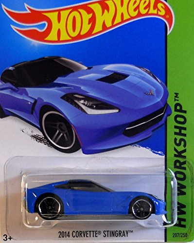1 X 2014 Hot Wheels Hw Workshop 2014 Corvette Stingray (Blue) - 1