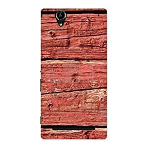 Stylish Pale Red Print Back Case Cover for Sony Xperia T2