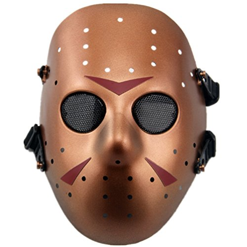 Tech-p Jason Full Face Airsoft Mask Movie Props-rose Gold