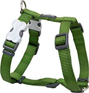 Red Dingo Plain Green Dog Harness 20mm x (Neck: 36-59cm / Body 45-66cm)