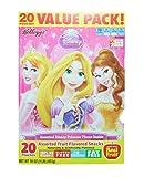 Kellogs Disney Princess Assorted Fruit Snacks; 20 Pouches