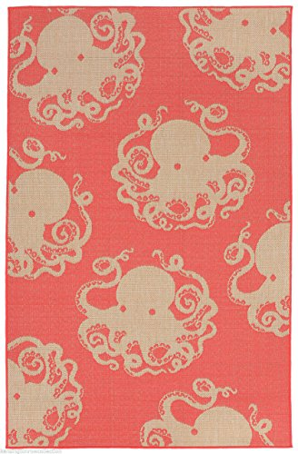 AREA-RUGS-AEGEAN-SEA-OCTOPUS-RUG-CORAL-710-x-910-INDOOR-OUTDOOR-RUG