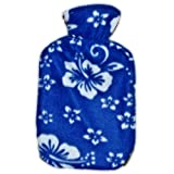 Warm Tradition Orchid Fleece Covered Hot Water Bottle-BLUE- Bottle made in Germany, Cover made in USA