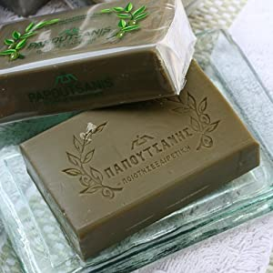Greek Olive Oil Soap by Papoutsanis (8.8 ounce)