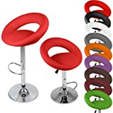 Jago LBHK02 Bar Stools, 2pc Set (red)by Jago