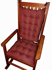 Rocking Chair Cushion Set Tiffanie Wine Red