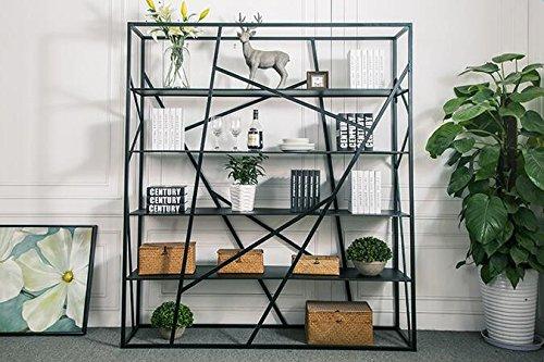 Metallo rack partizione libreria soggiorno ufficio vetrina con cornice da pavimento multistrato Stacks 150*35*180cm