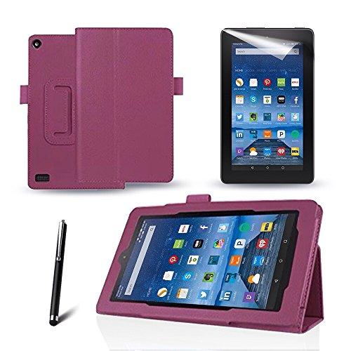 mofredr-new-kindle-fire-7-2015-purple-case-slim-fit-folio-premium-leather-standing-case-for-the-amaz