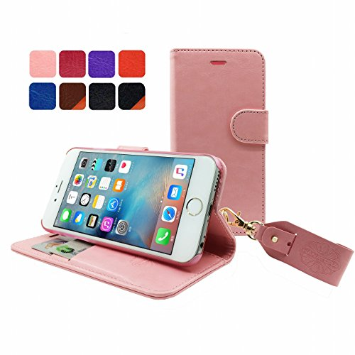 HANATORA iPhone 6S/6 対応 PUレザー 手帳型ケース PINK YHX6S-01PINK
