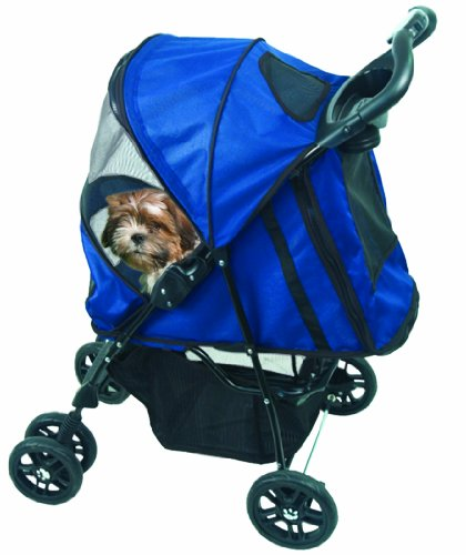 Pet Gear Happy Trails Stroller Blue