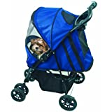 Pet Gear Happy Trails Pet Stroller for cats and dogs up to 30-pounds, Cobalt Blue ~ Pet Gear