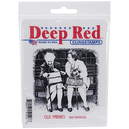 Deep Red Stamps Old Friends Rubber Stamp - 1