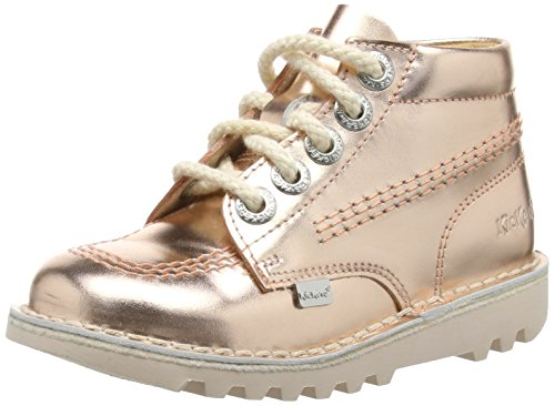 Kickers kick hi ss16 leather infant, metallic,...
