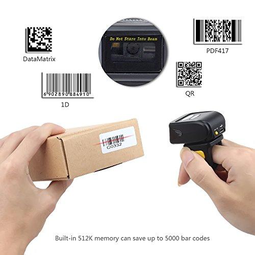 Eyoyo Portable Wearable Ring QR Bluetooth Wireless Barcode