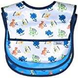Waterproof Feeder Bib w/Flip Pocket, 3 Pack, Dinosaur, Frenchie Mini Couture