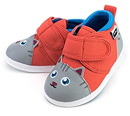Chairman Meow Squeaky Shoes for Toddlers w/ Adjustable Squeaker, Size 4, By ikiki
