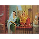 """Dolls Of India """"Beautiful Courtesans"""" Reprint On Paper - Unframed (28.57 X 20.96 Centimeters)"""