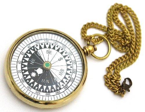 brass-pocket-compass-with-chain-watch-type-floating-dial-compass