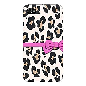 Jugaaduu Leopard Pattern Bow Back Cover Case For Apple iPhone 4