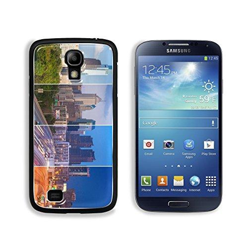 Luxlady Premium Samsung Galaxy S4 Aluminium Snap Case Philadelphia skyline day to night montage Pennsylvania USA United States IMAGE 36457351 (Samsung Mini S4 Phillies Case compare prices)