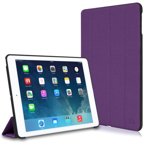 CaseCrown Omni Case (Purple) for Apple iPad Air with Sleep / Wake Feature & Multi-Angle Viewing Stand