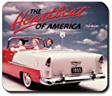 55 Chevy Vintage Ad Mouse Pad - by Art Plates