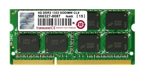Transcend JM1333KSN-4G Ram DDR3 SO-DIMM 204PIN  1333Mhz per Notebook 4Gb