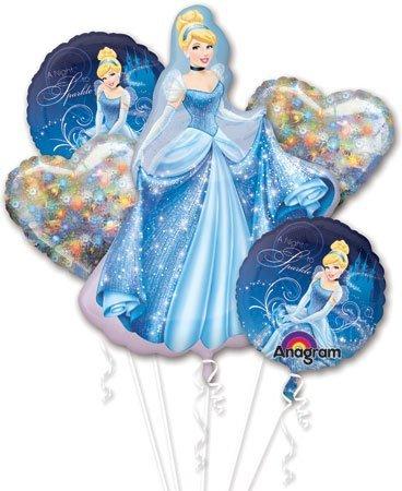 Cinderella Balloon Bouquet - Cinderella Balloons - 5 Count