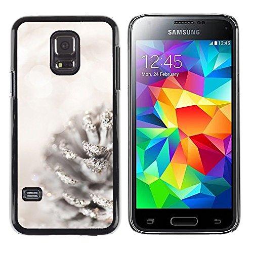 Stuss Case / Premio Sottile Slim Cassa Custodia Case Bandiera Cover Armor PC Aluminium - White Acorn Glitter Snow Christmas - Samsung Galaxy S5 Mini, SM-G800, NOT S5 REGULAR!