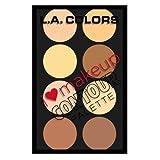 L. A. COLORS I Heart Makeup Contour Palette - Light To Medium (並行輸入品) ランキングお取り寄せ