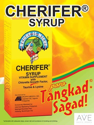 Cherifer Syrup With Chlorella Growth Factor, Taurine & Lysine 240Ml
