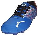 Enco Football Sports Shoes NITRO 1.0 Light Weight Soccer BLU/SIL/ORG UK 9