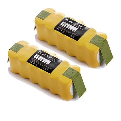 Powerextra™ 2 Pack Roomba Battery For Irobot Roomba 500 510 530 532 535 540 545 550 552 560 562 570 580 581 582 585 595 600 620 630 650 660 700 760 770 780 790 R3 80501