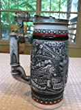 Age of The Iron Horse Ceramic Stein Locomotive Railroad Train Beer Mug Avon 1982