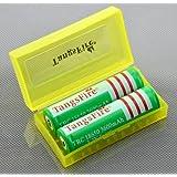 TangsFire®18650 3600mAh 3.7V Rechargeable Li-Ion Battery (Pair)+Free battery box