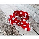 Banda ancha para niño, modelo grande, diseño de lunares, color rojo y blanco