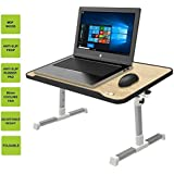 Dealcrox New Portable Adjustable Folding Laptop Table Foldable Laptop Stand Desk