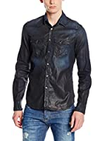 Gas Jeans Camisa Hombre Kant (Azul Noche)