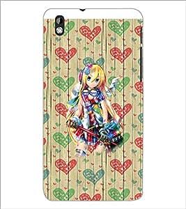PrintDhaba Fantasy Girl D-5740 Back Case Cover for HTC DESIRE 816 (Multi-Coloured)