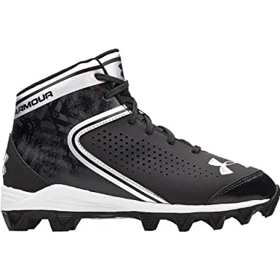 Buy Boy's Under Armour Hammer Mid Football Cleat Black by Under Armour