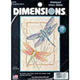 Dimensions Crafts Dragonfly Dance Mini Stamped Cross Stitch Kit 5X7 6930