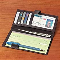 Cowhide Nappa Leather Checkbook / Secretary Leather Type: Black Supple